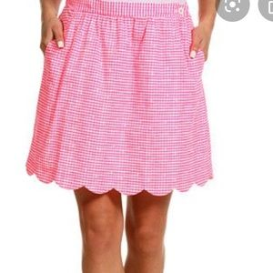FLASH SALE! Lilly Pulitzer 6 pink gingham skirt.